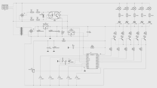 Принципиальная схема диммера.  Управляющие цепи изделия гальванически...